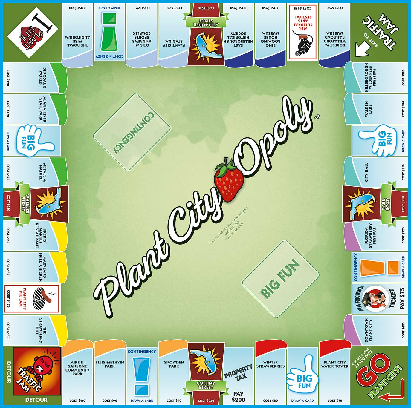 PLANT CITY-OPOLY Board Game