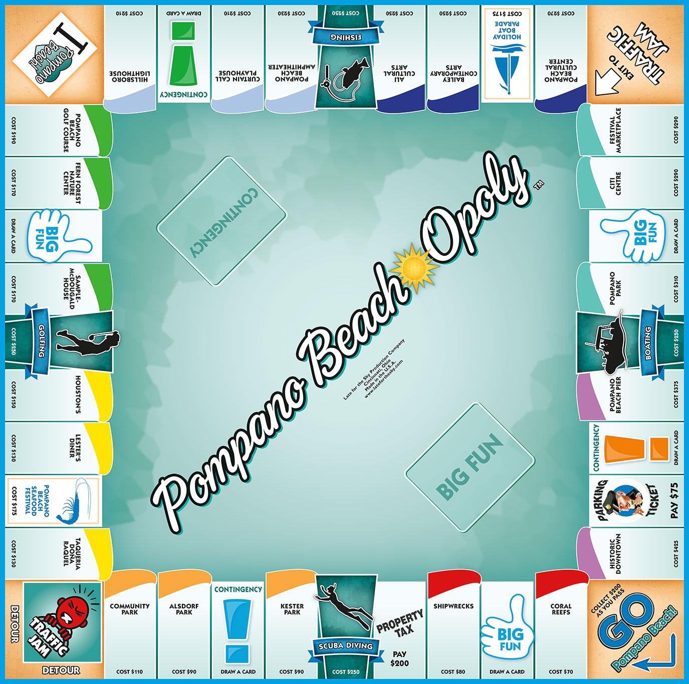 POMPANO BEACH-OPOLY Board Game