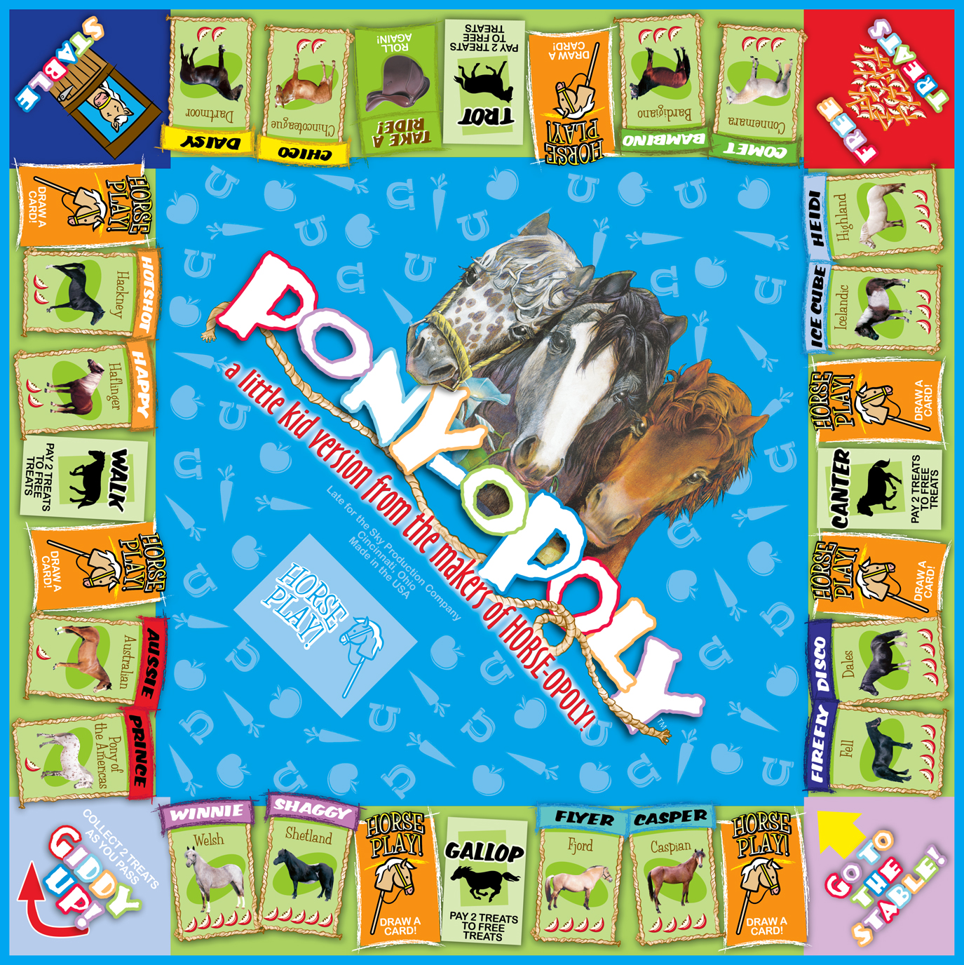 PONY-OPOLY Board Game