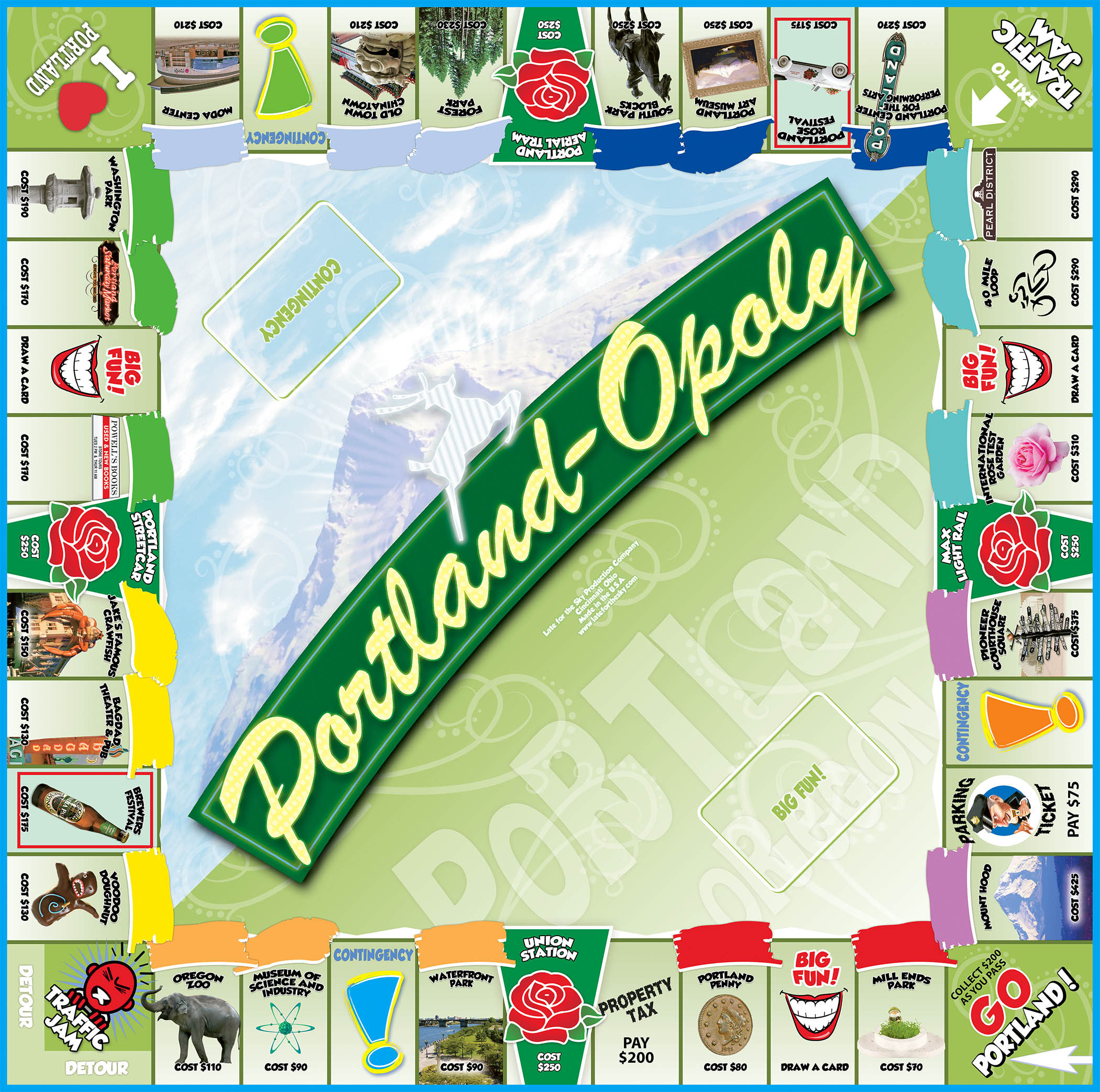 PORTLAND-OPOLY Board Game