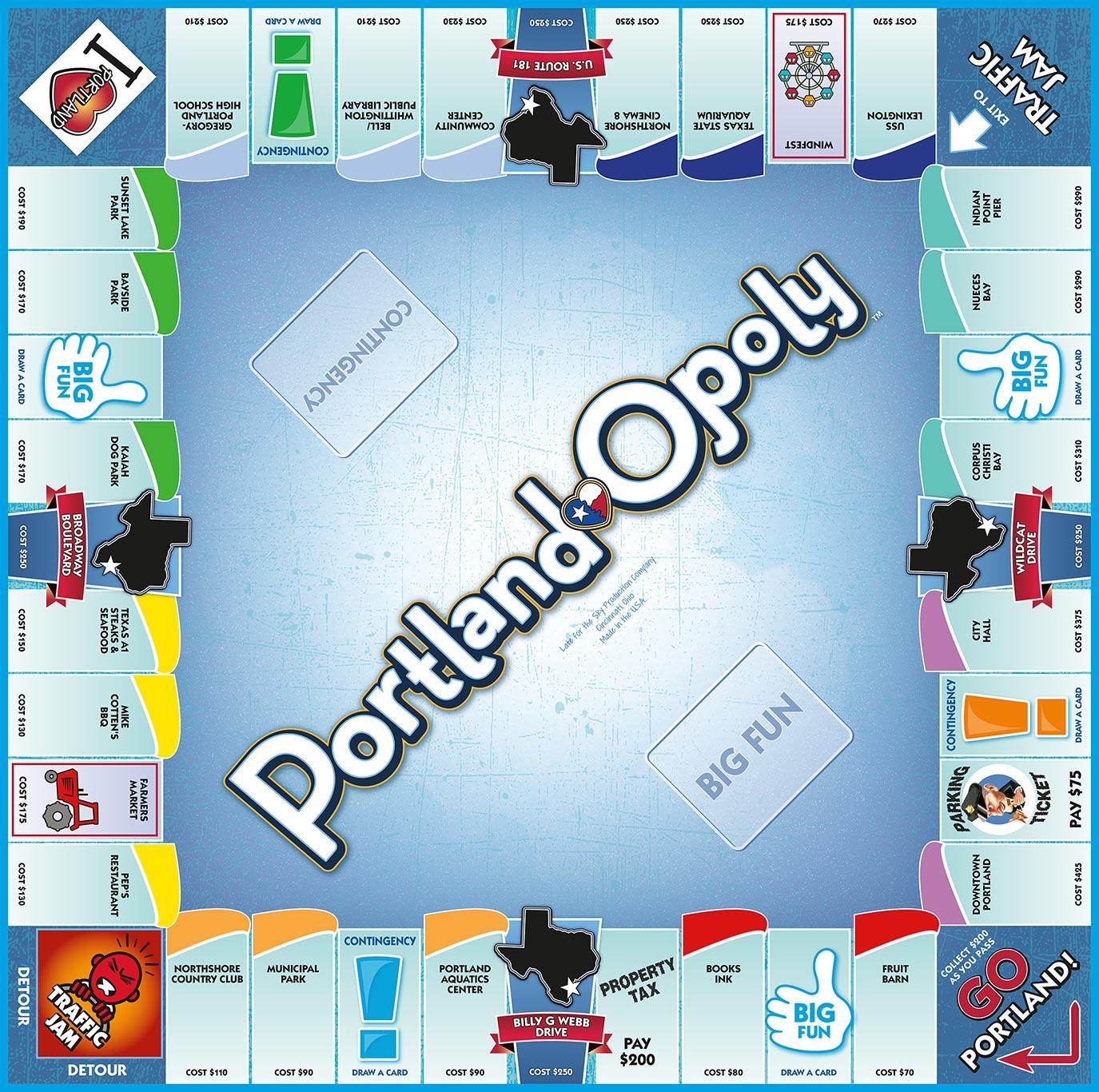 PORTLAND-OPOLY, TX Board Game