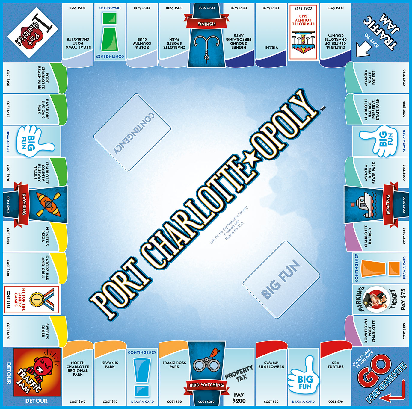 PORT CHARLOTTE-OPOLY Board Game