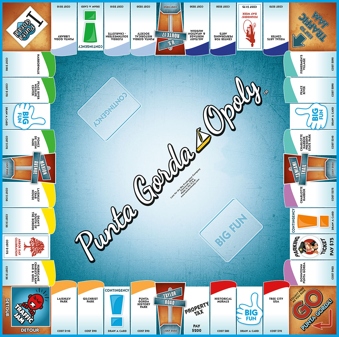 PUNTA GORDA-OPOLY Board Game