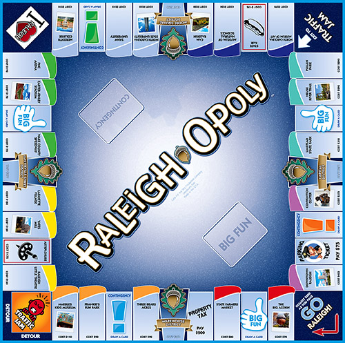 RALEIGH-OPOLY Board Game