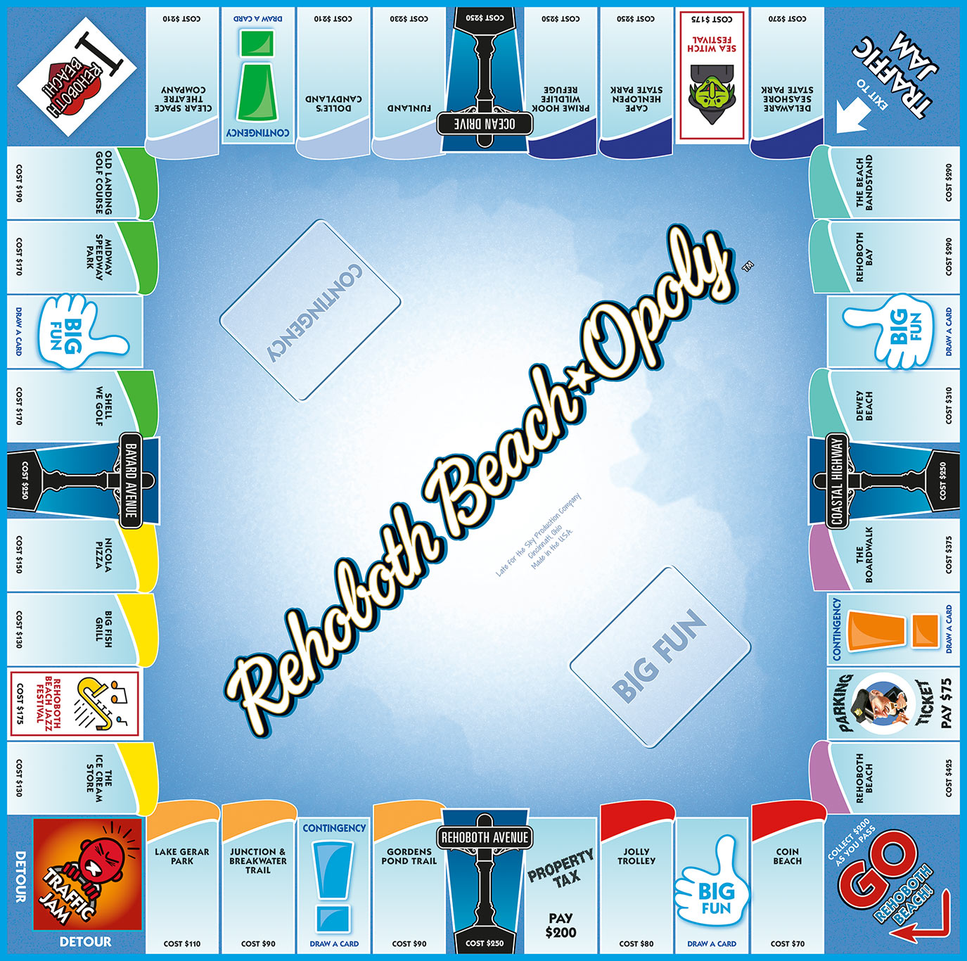 REHOBOTH BEACH-OPOLY Board Game