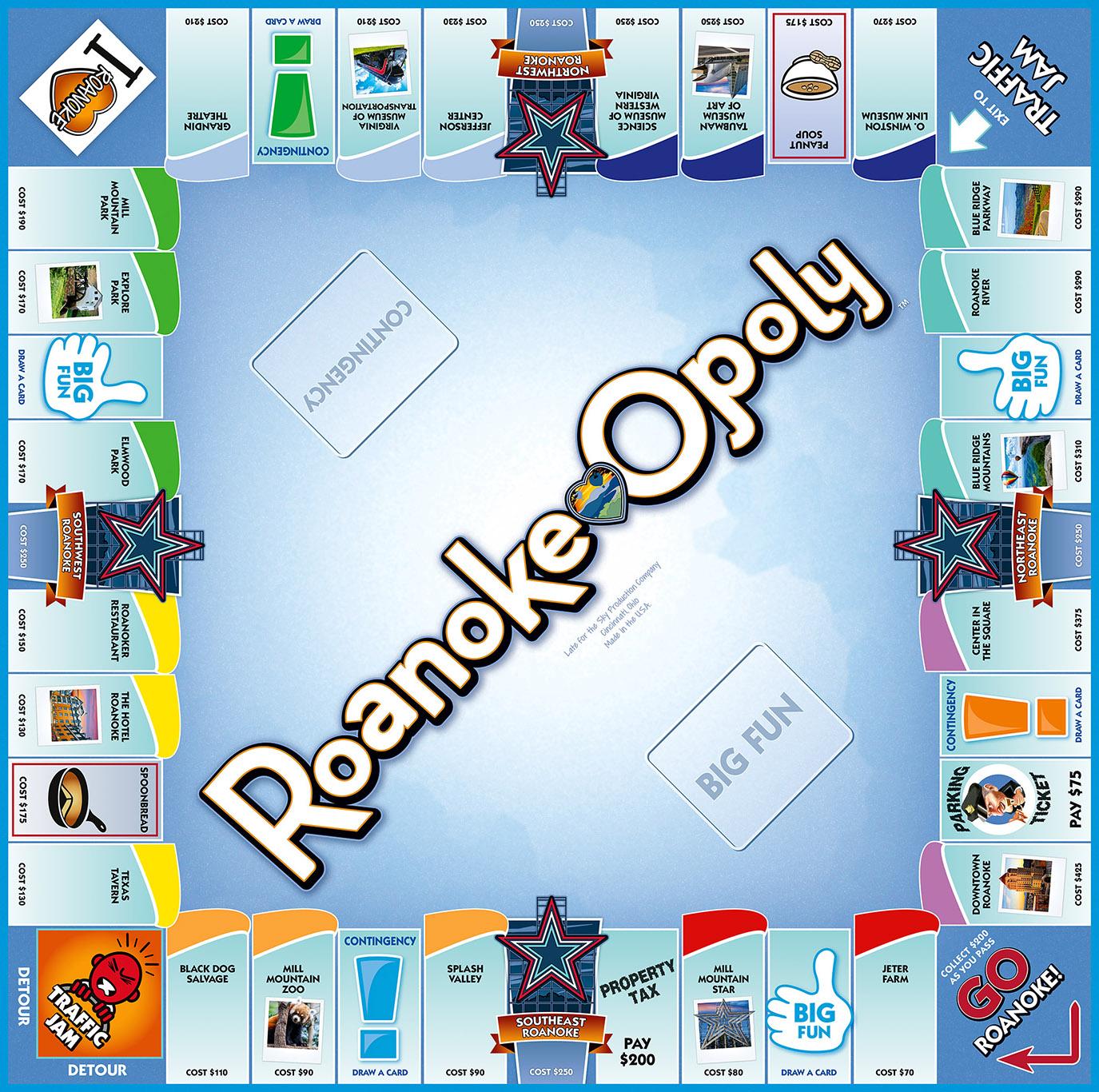 ROANOKE-OPOLY Board Game