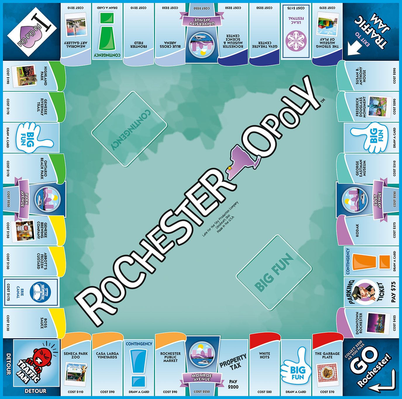 ROCHESTER-OPOLY Board Game