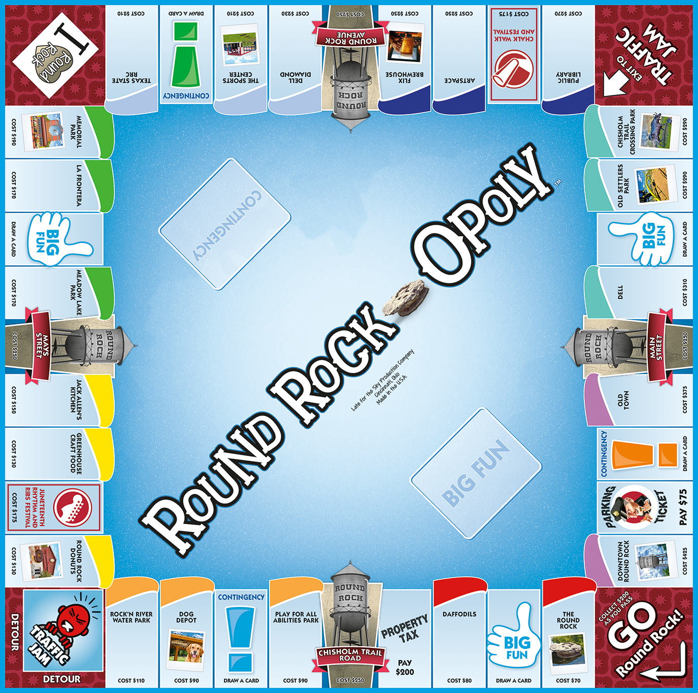 ROUND ROCK-OPOLY Board Game