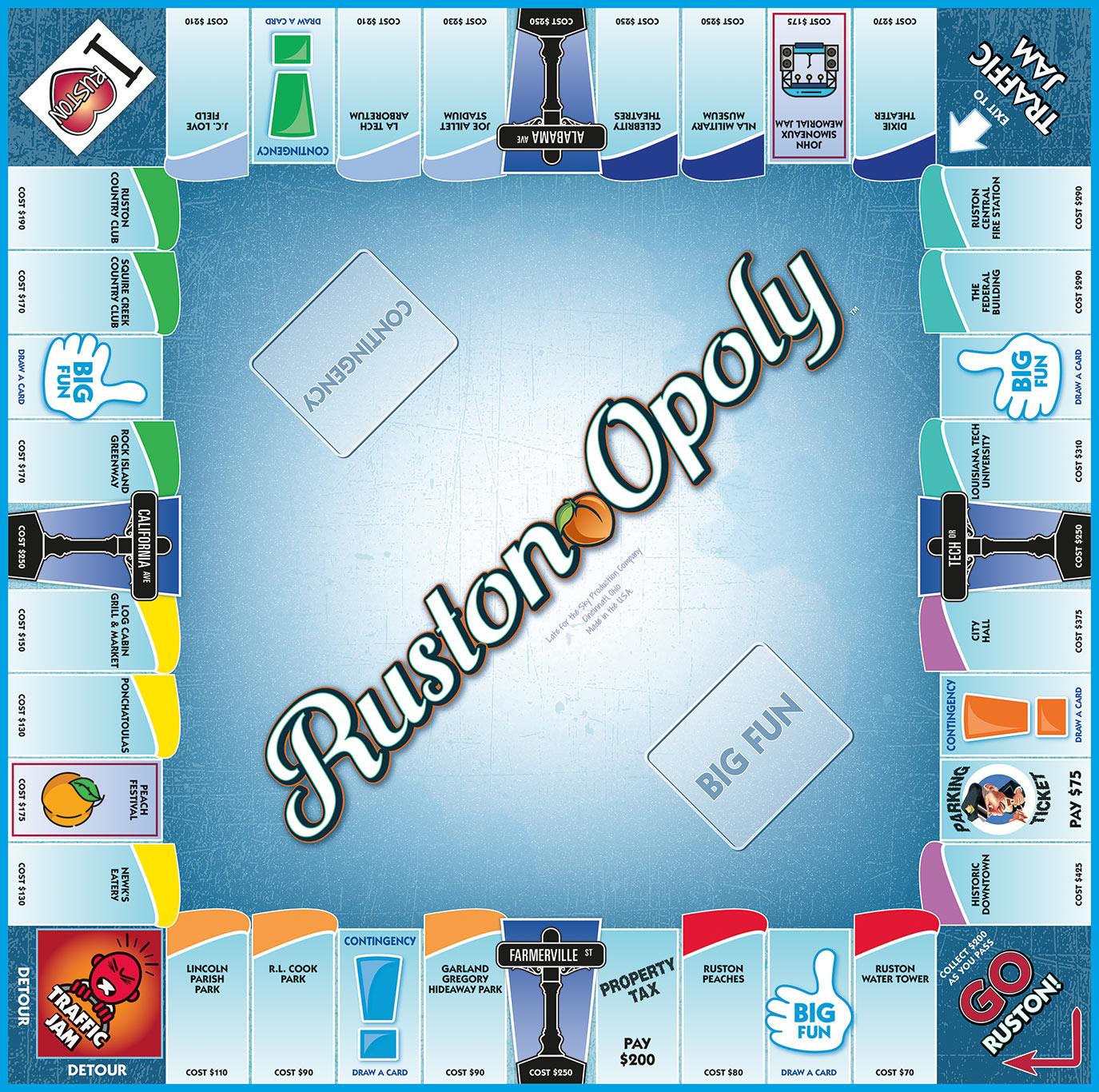 RUSTON-OPOLY Board Game
