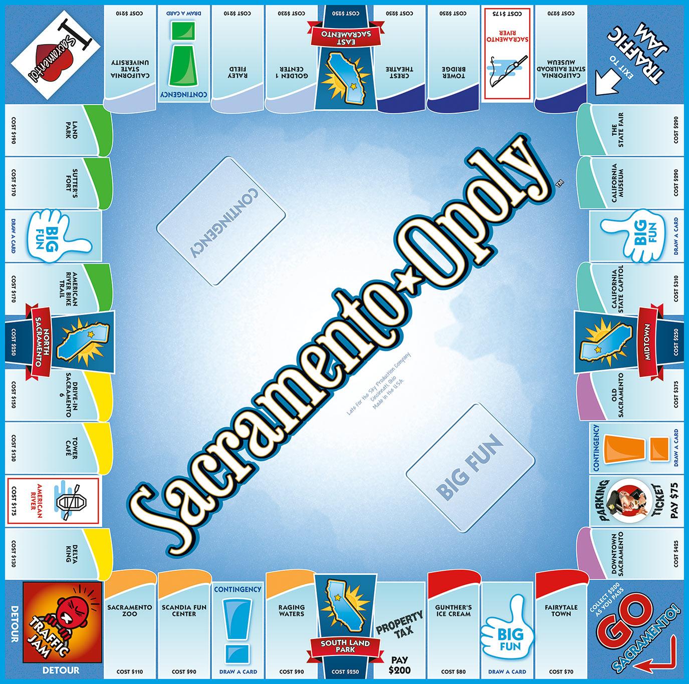SACRAMENTO-OPOLY Board Game
