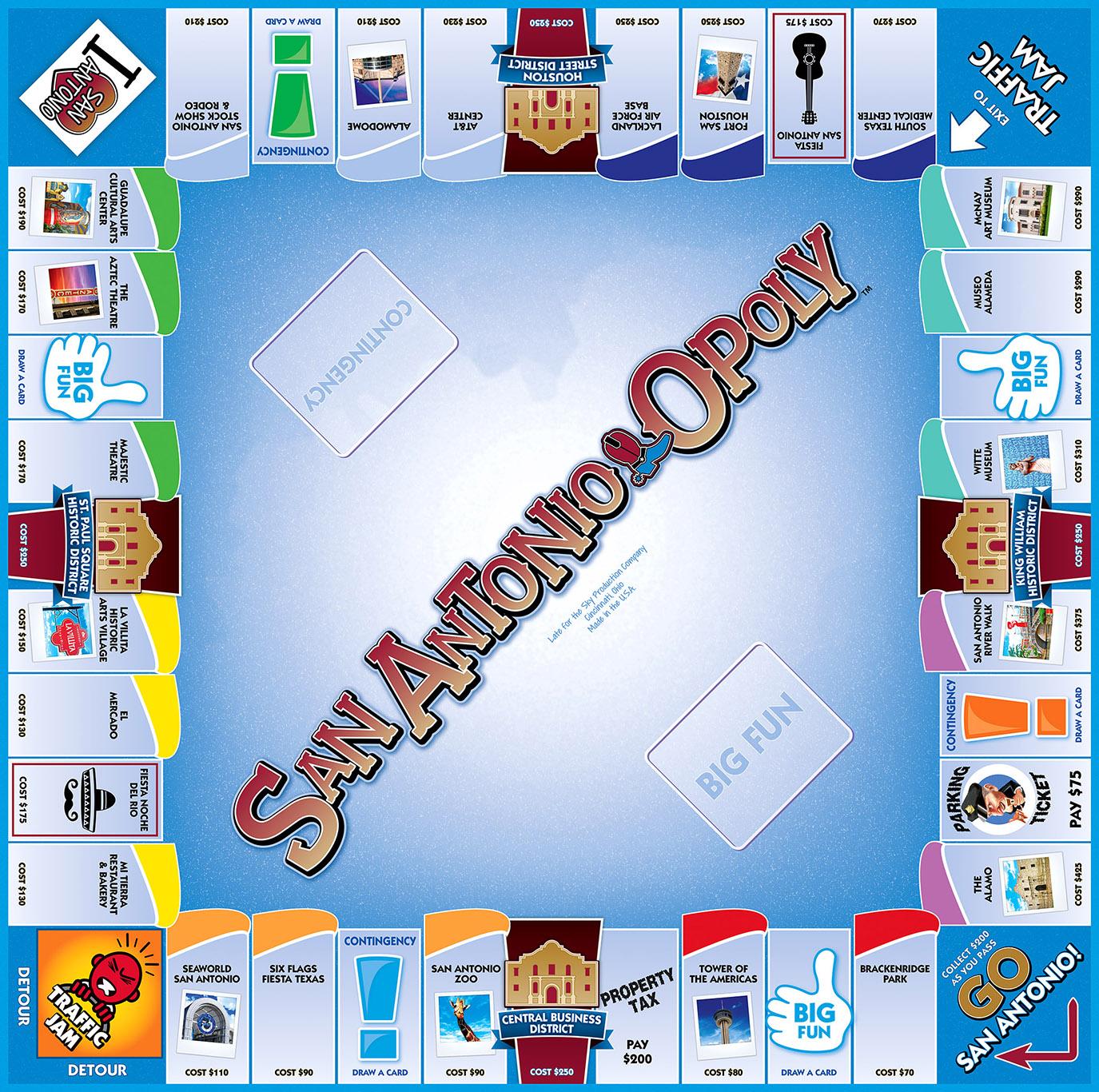 SAN ANTONIO-OPOLY Board Game