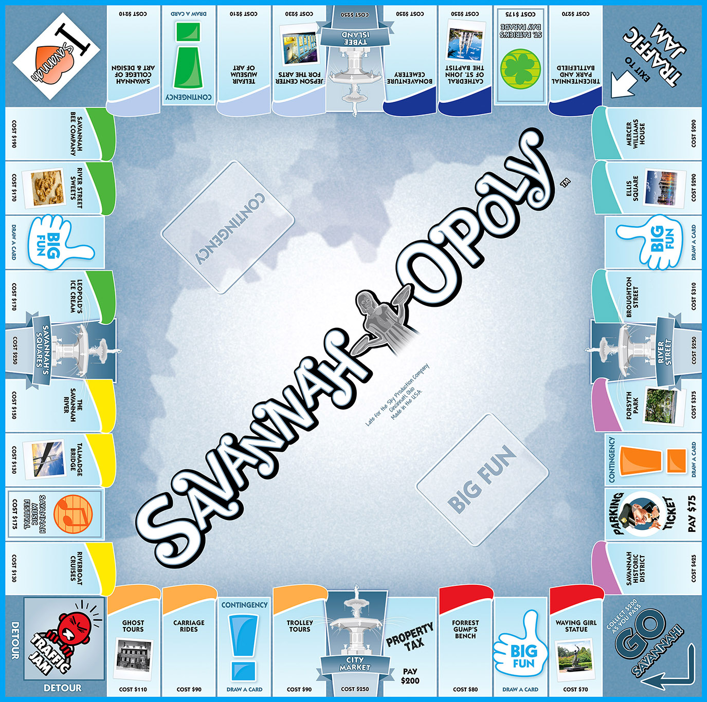 SAVANNAH-OPOLY Board Game
