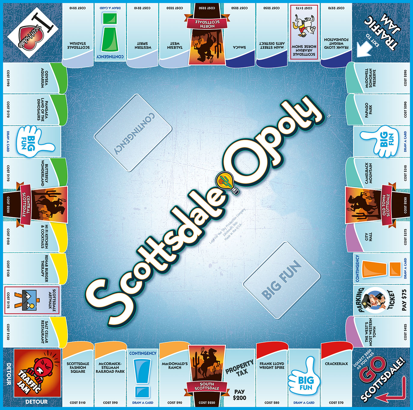 SCOTTSDALE-OPOLY Board Game