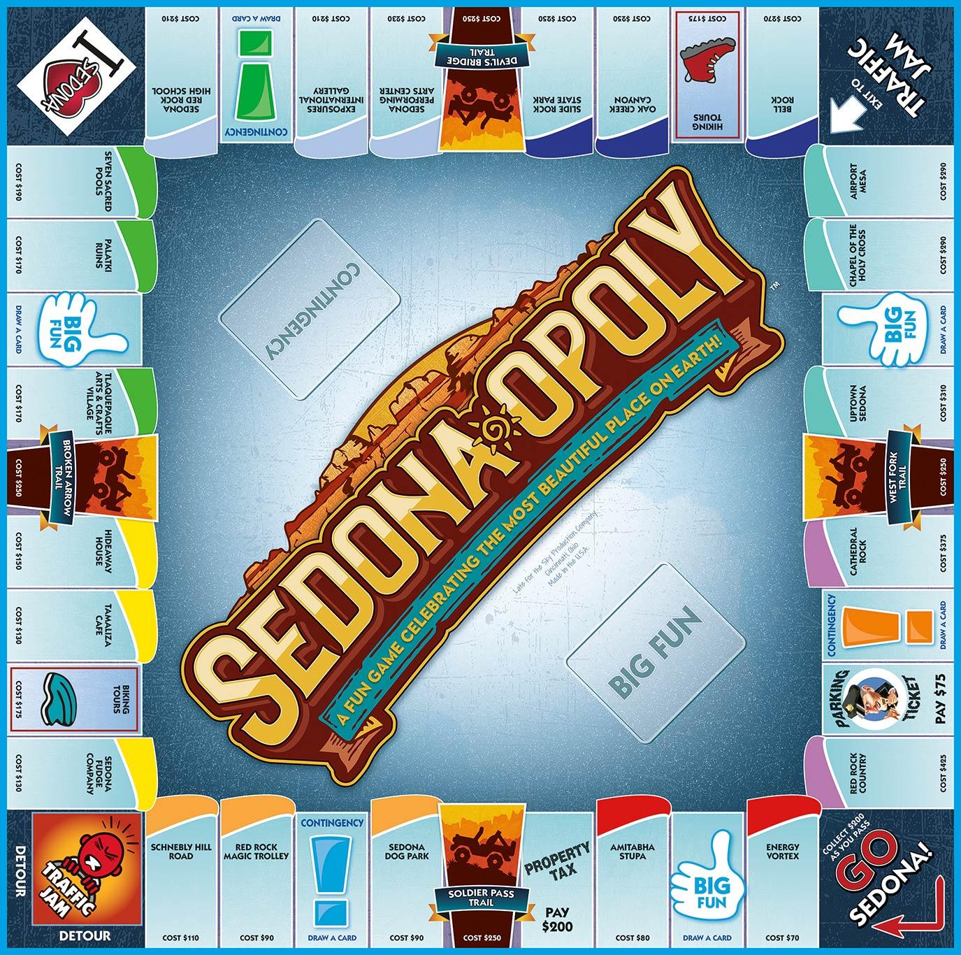 SEDONA-OPOLY Board Game