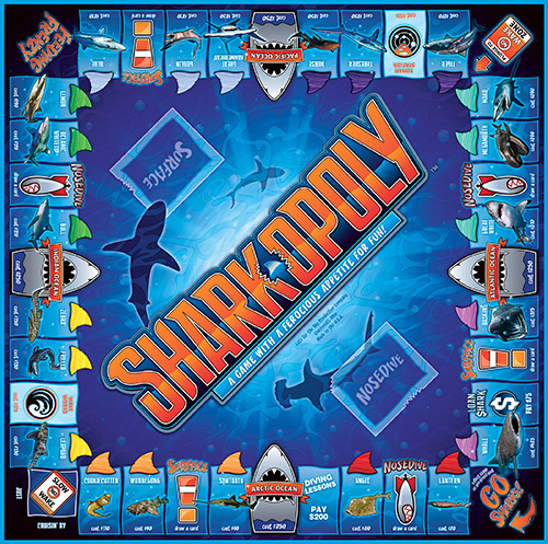 SHARK-OPOLY Board Game