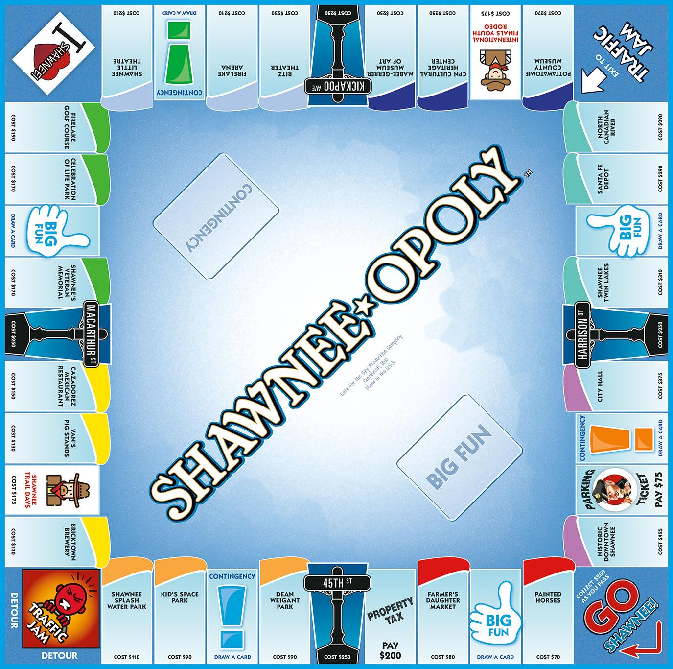 SHAWNEE-OPOLY Board Game