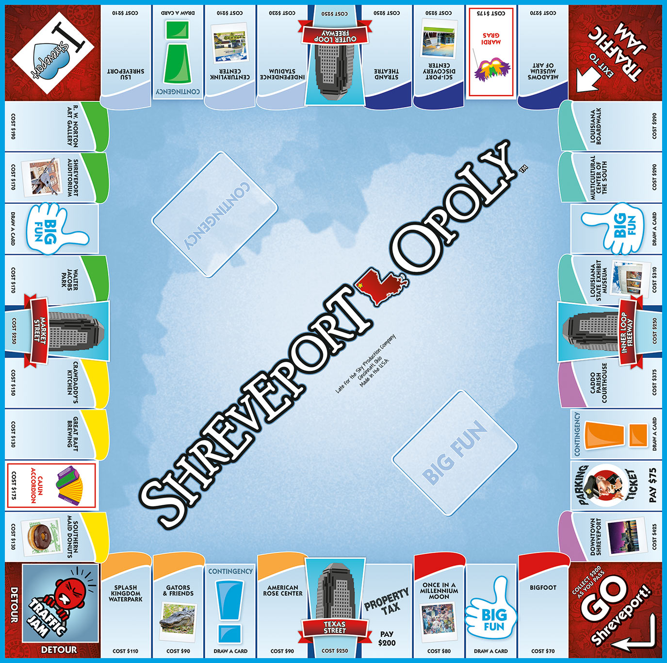 SHREVEPORT-OPOLY Board Game