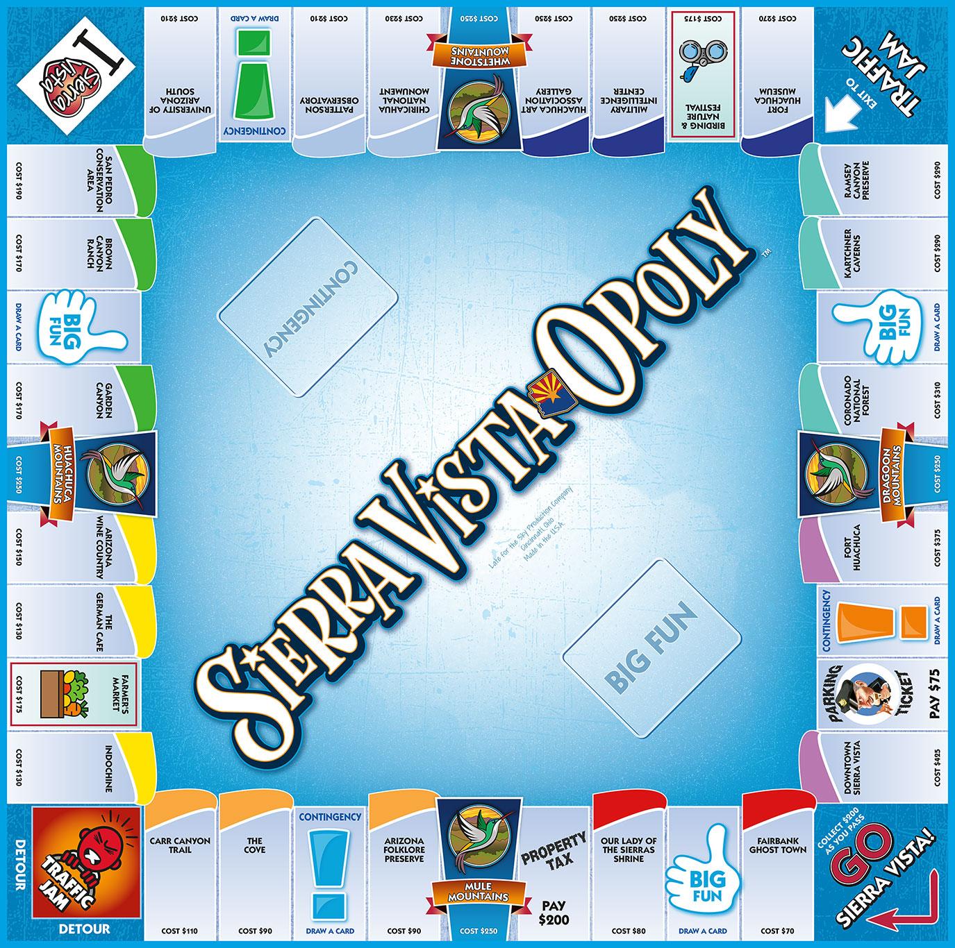 SIERRA VISTA-OPOLY Board Game