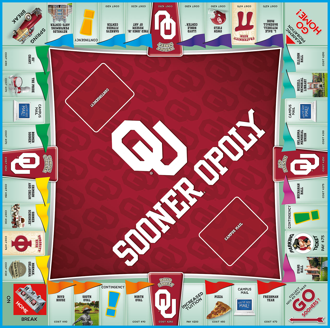 SOONER OPOLY Board Game
