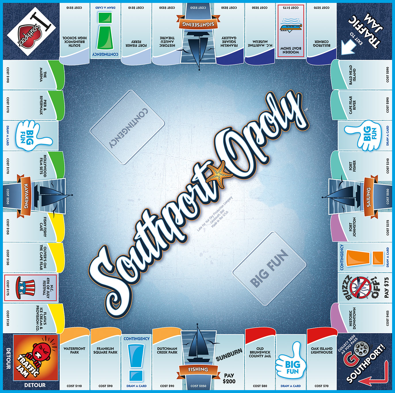 SOUTHPORT-OPOLY Board Game