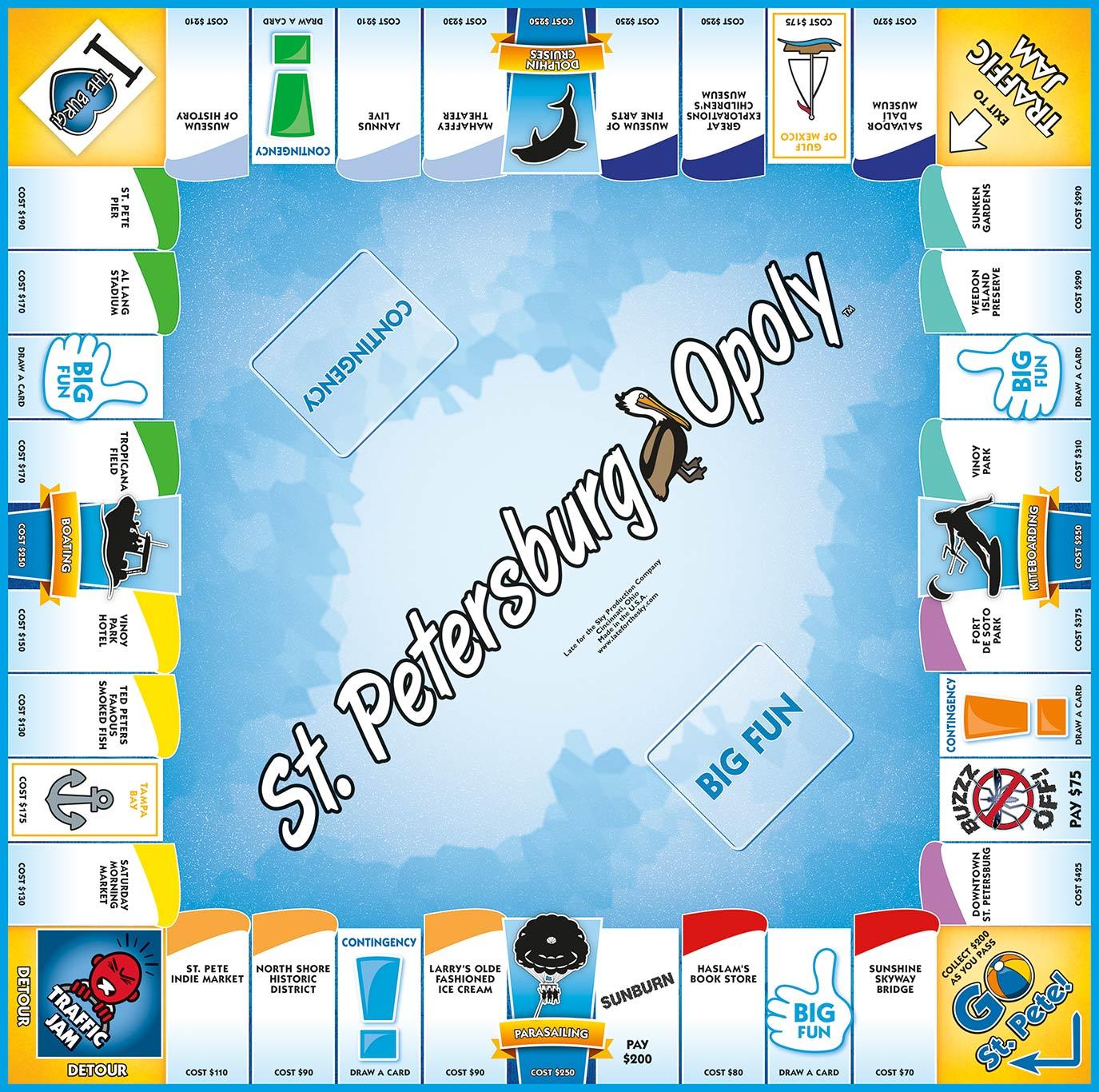 ST. PETERSBURG-OPOLY Board Game