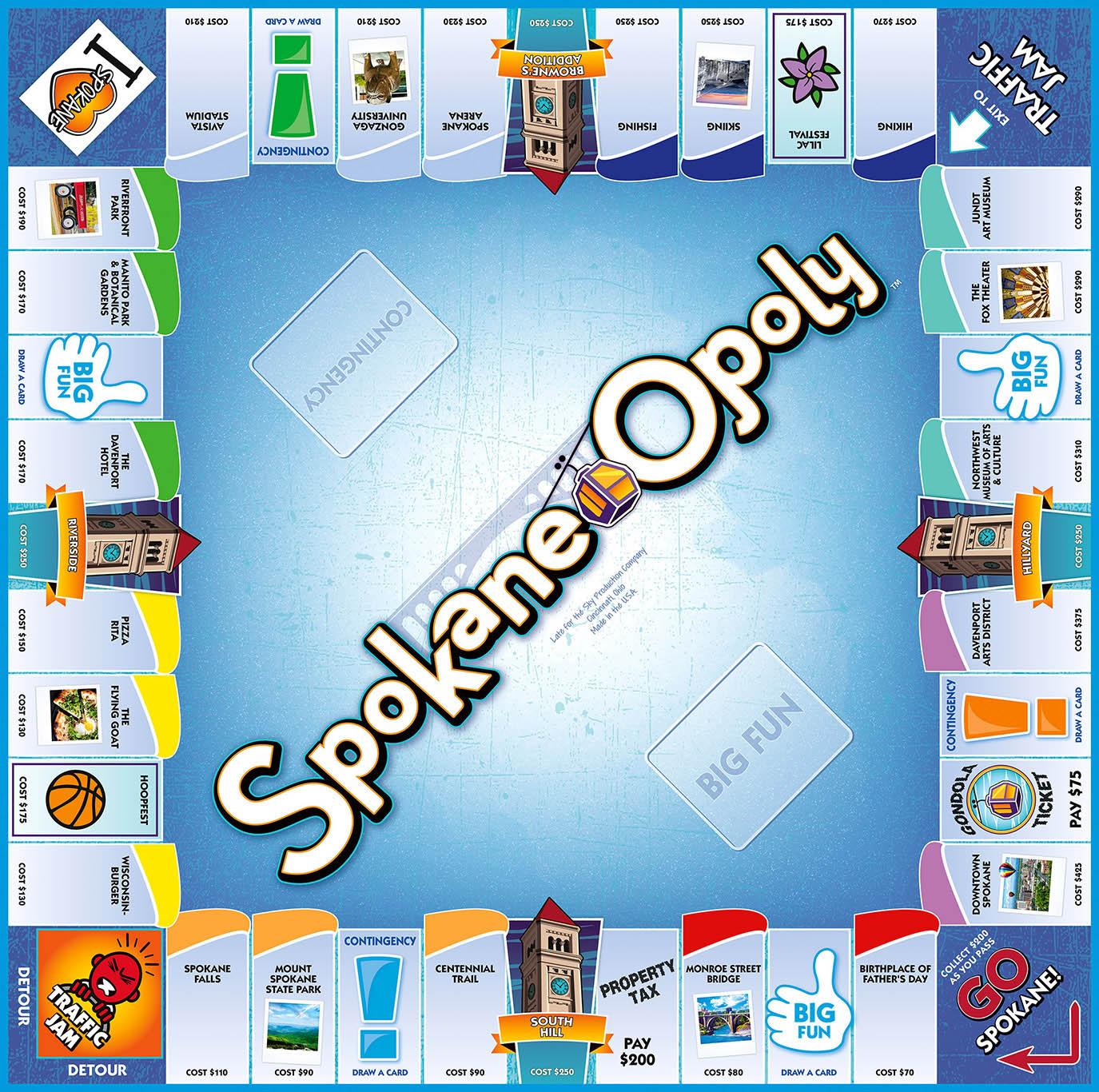SPOKANE-OPOLY Board Game