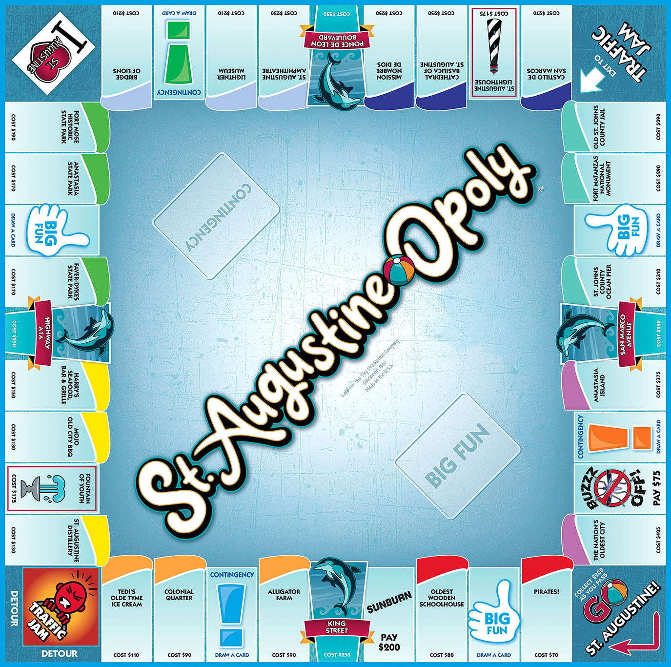 ST. AUGUSTINE-OPOLY Board Game