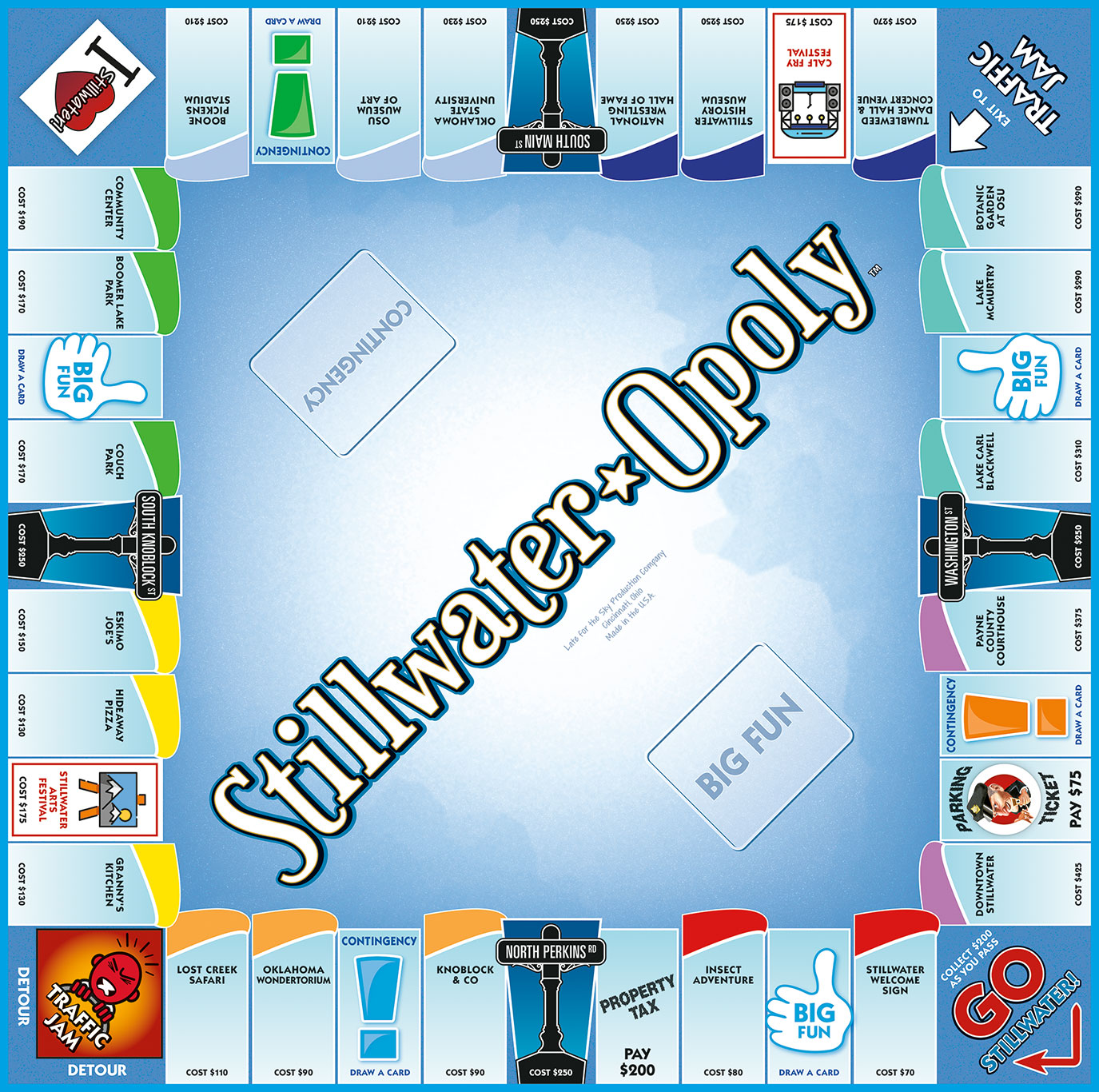 STILLWATER-OPOLY Board Game