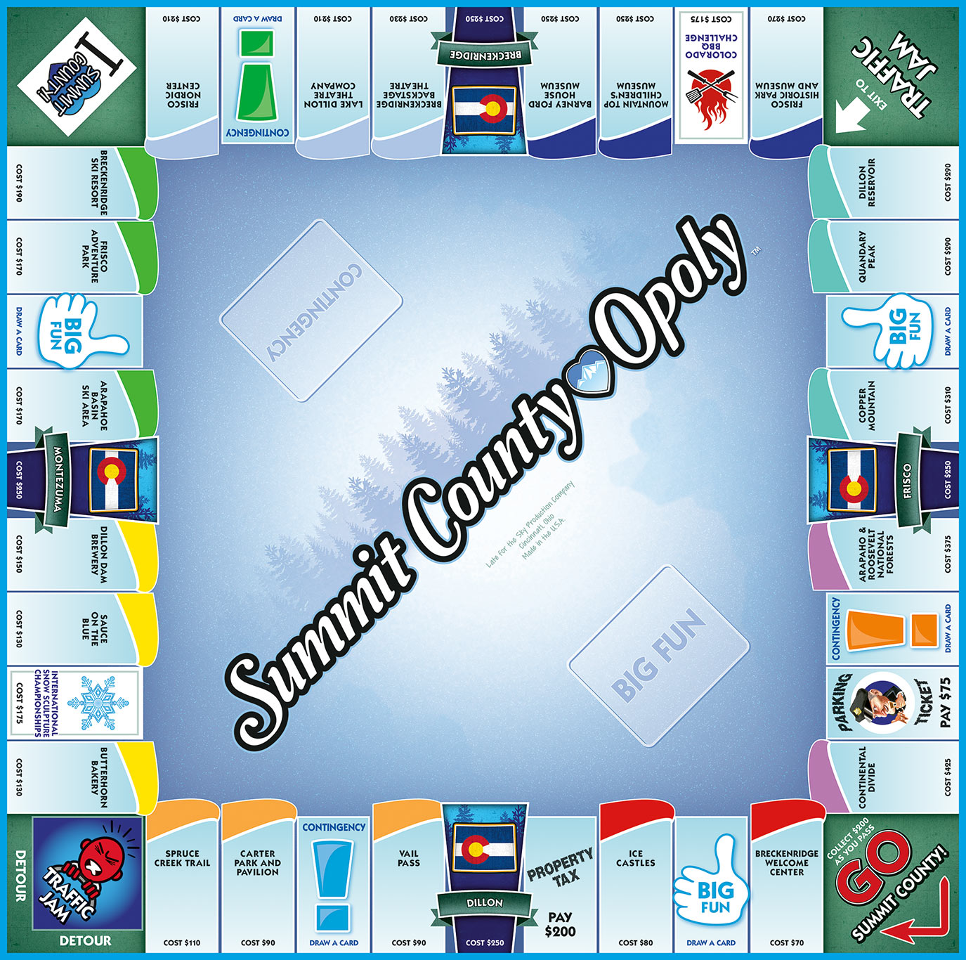 SUMMIT COUNTY-OPOLY Board Game
