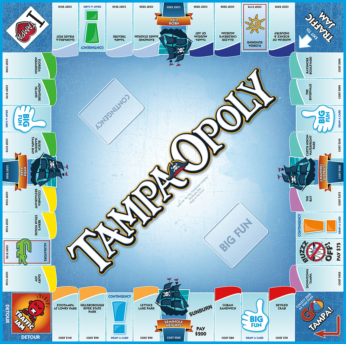 TAMPA-OPOLY Board Game