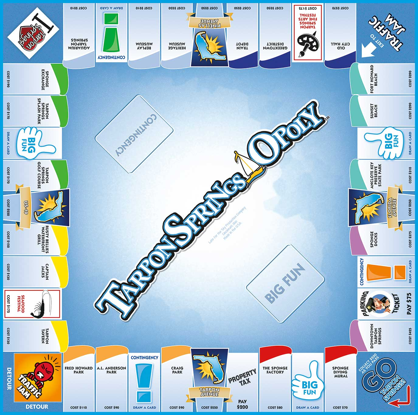 TARPON SPRINGS-OPOLY Board Game