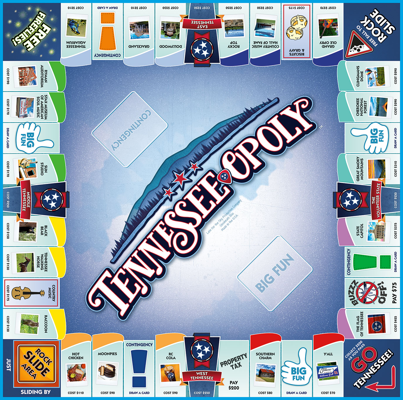 TENNESSEE-OPOLY Board Game