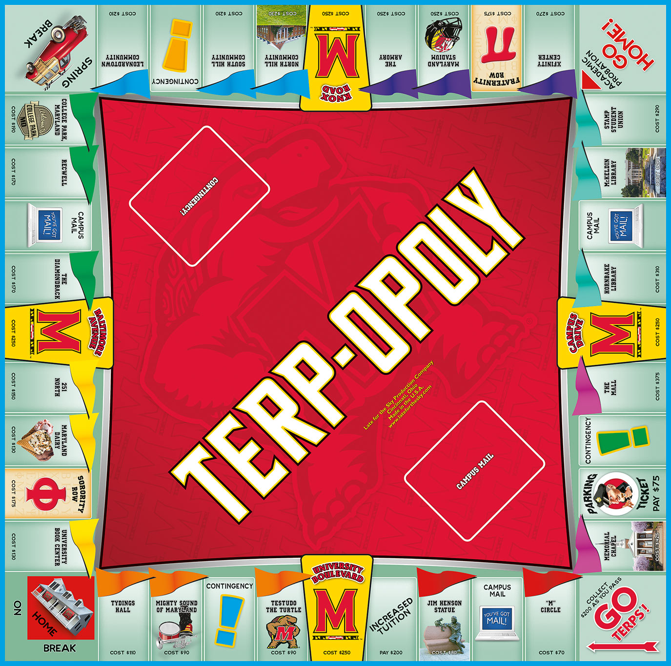 TERPOPOLY Board Game