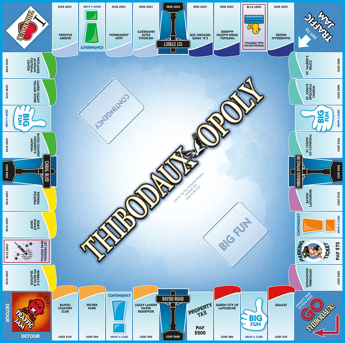 THIBODAUX-OPOLY Board Game