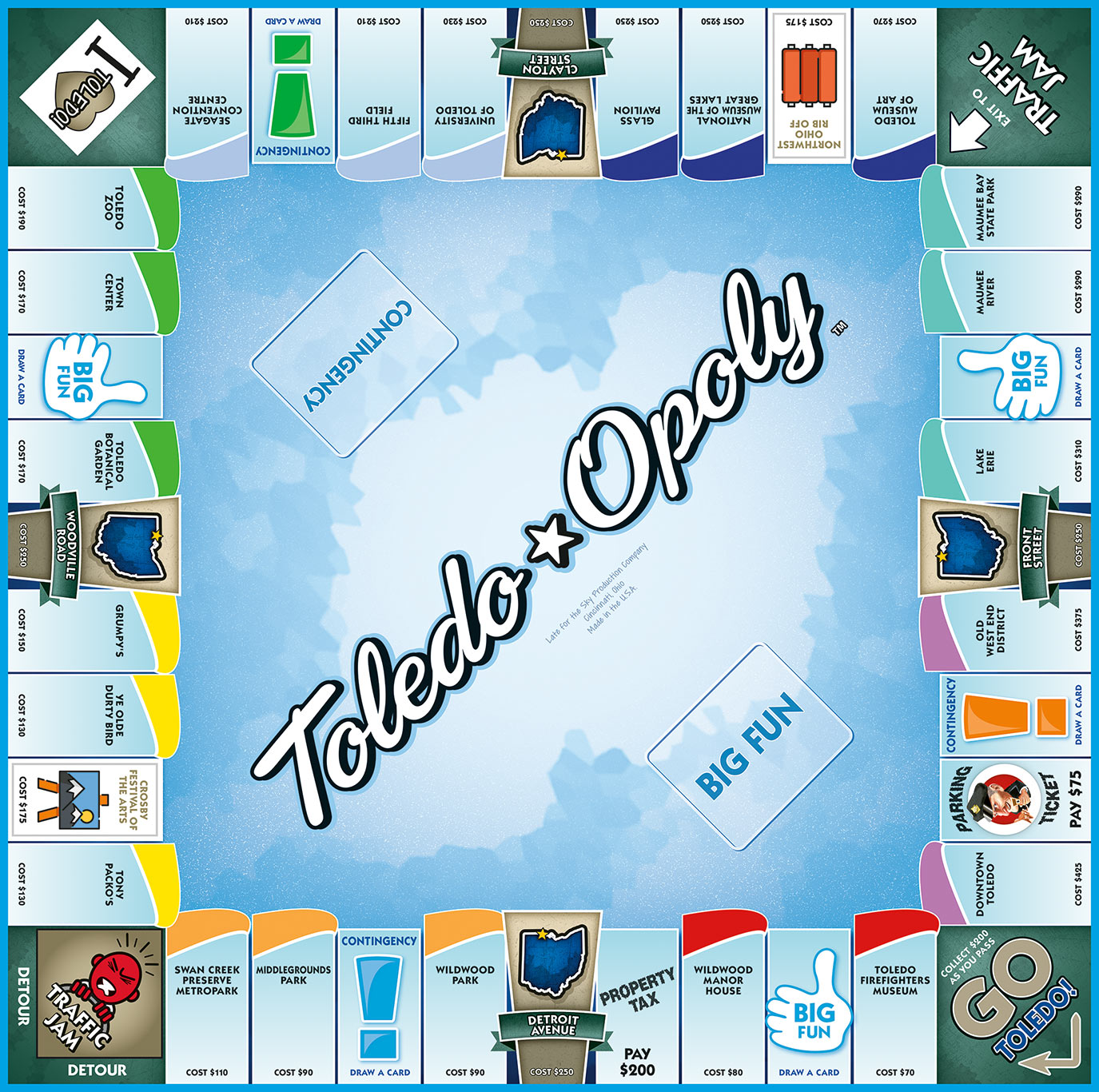 TOLEDO-OPOLY Board Game