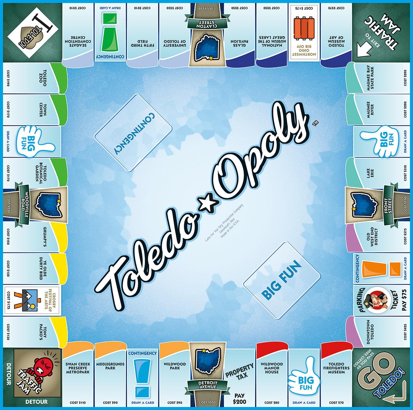 TOLEDO-OPOLY Board Game