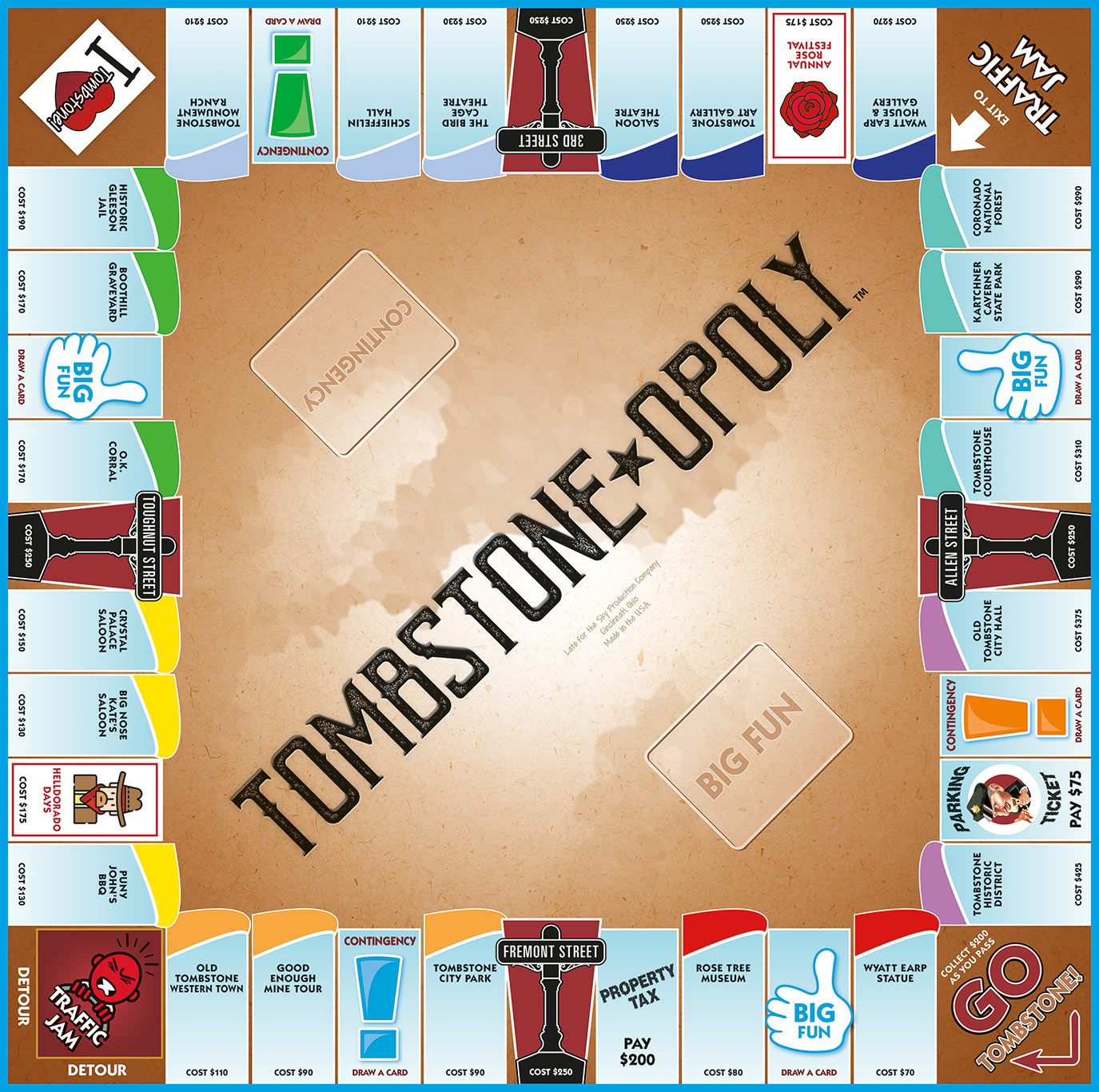 TOMBSTONE-OPOLY Board Game