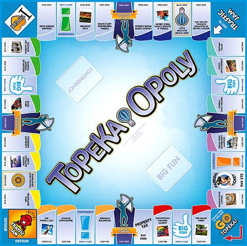 TOPEKA-OPOLY Board Game