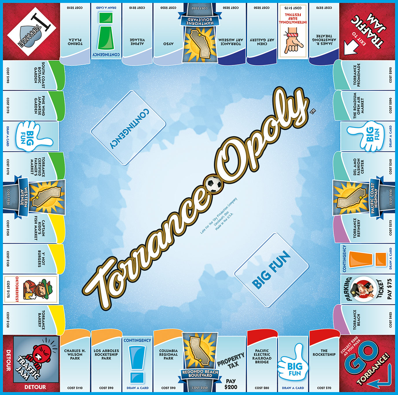 TORRANCE-OPOLY Board Game