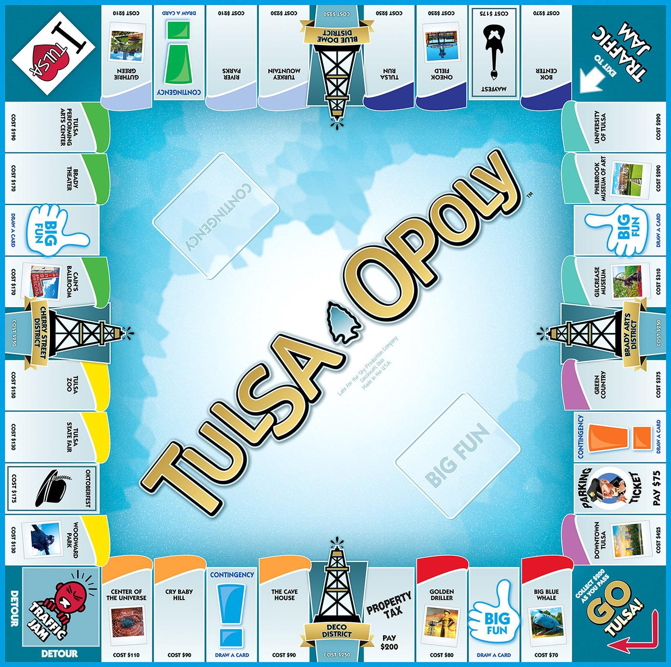 TULSA-OPOLY Board Game