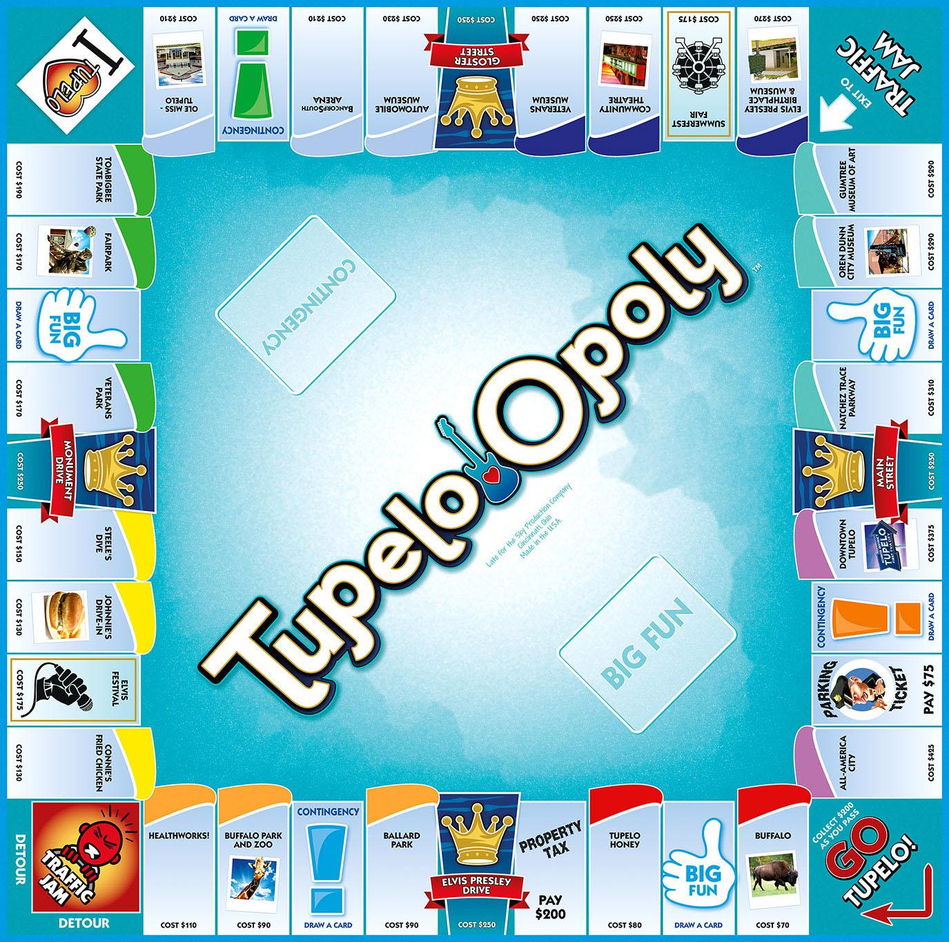 TUPELO-OPOLY Board Game