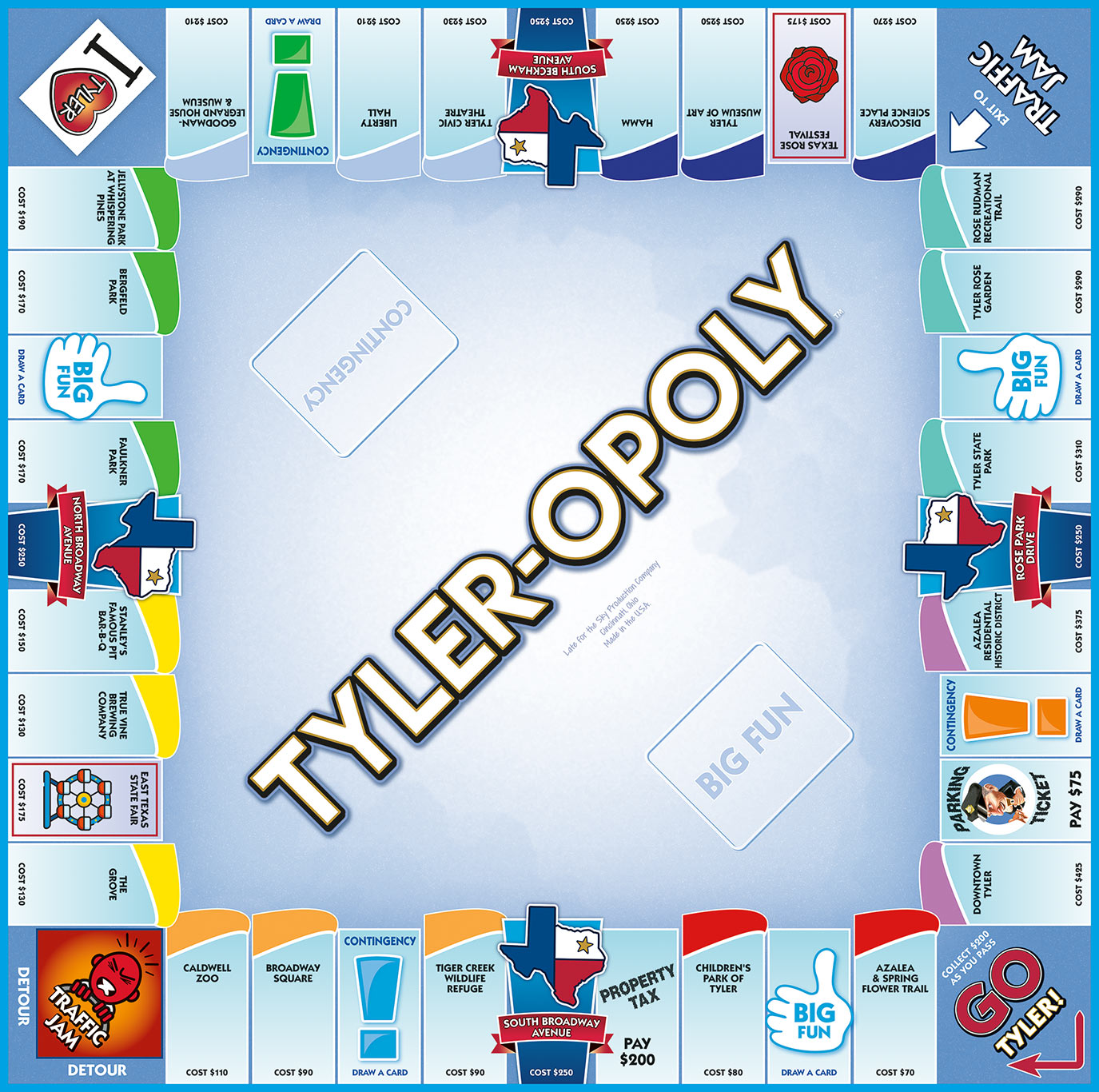 TYLER-OPOLY Board Game