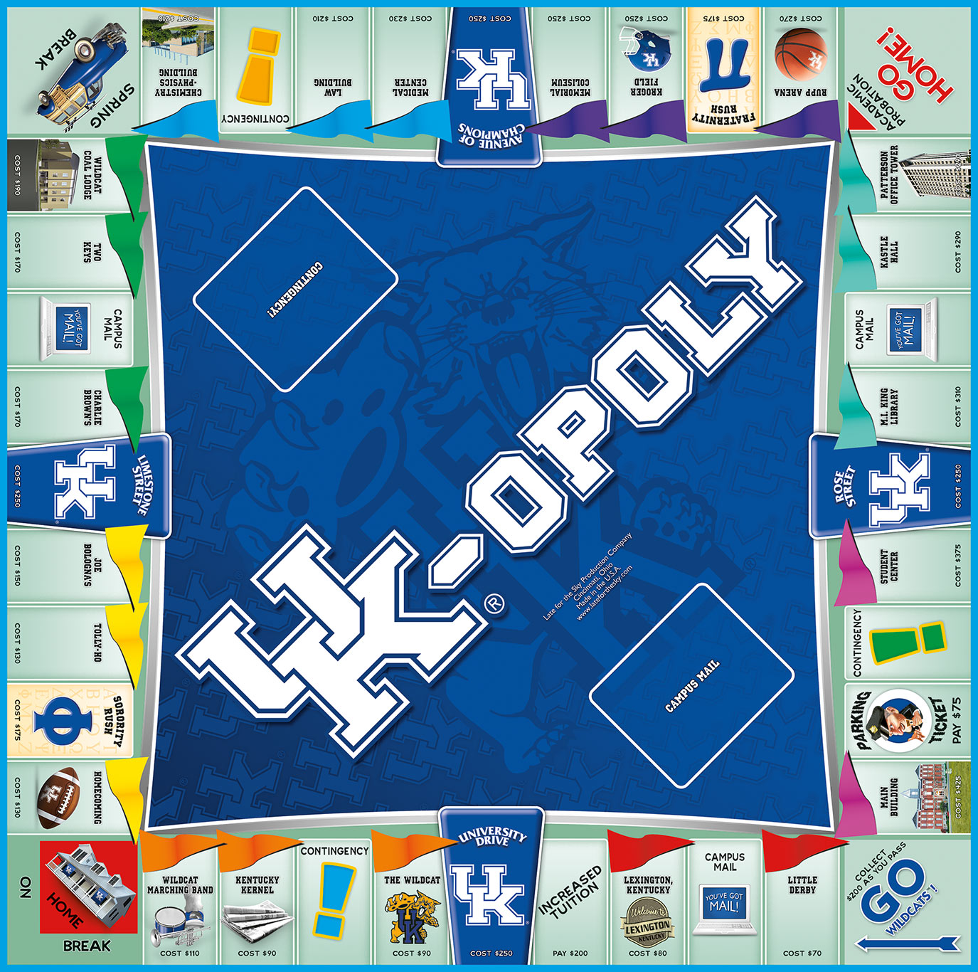 UK-OPOLY Board Game