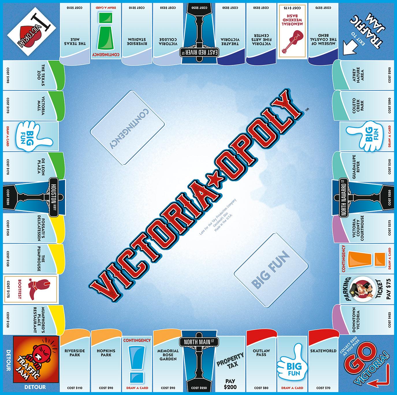 VICTORIA-OPOLY Board Game