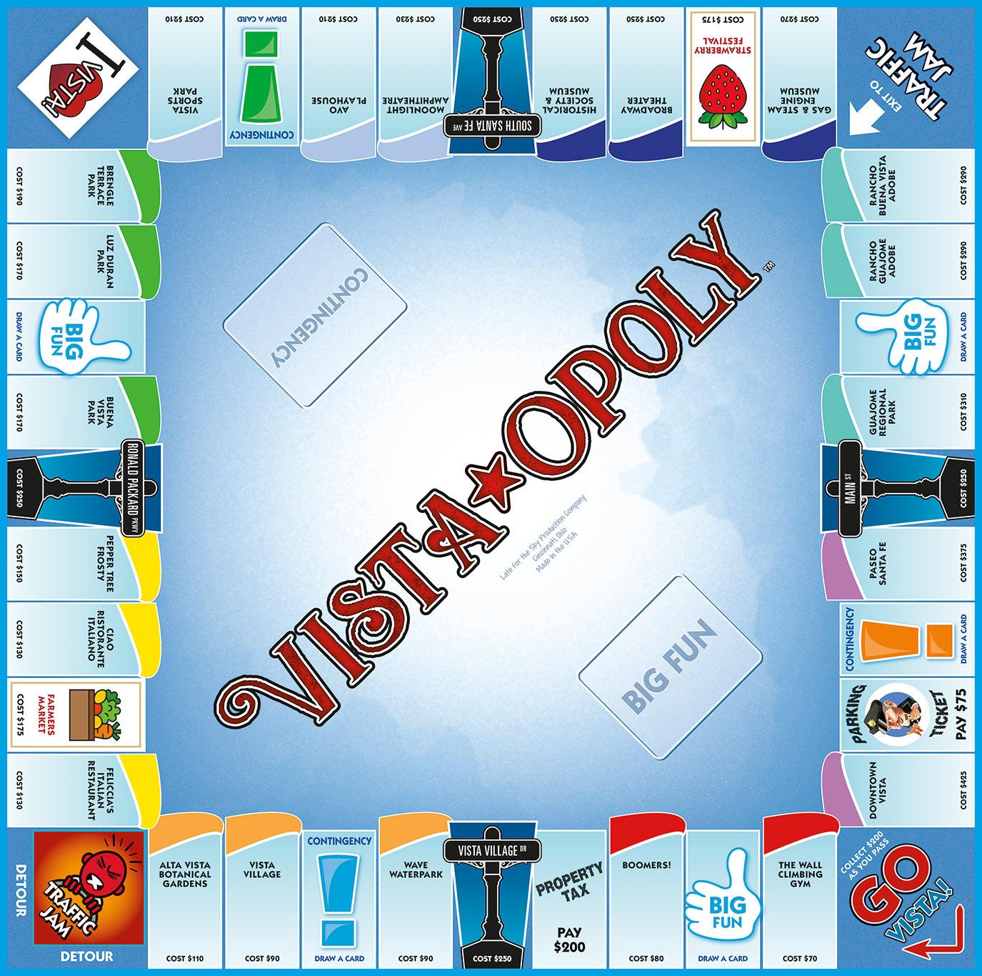 VISTA-OPOLY Board Game