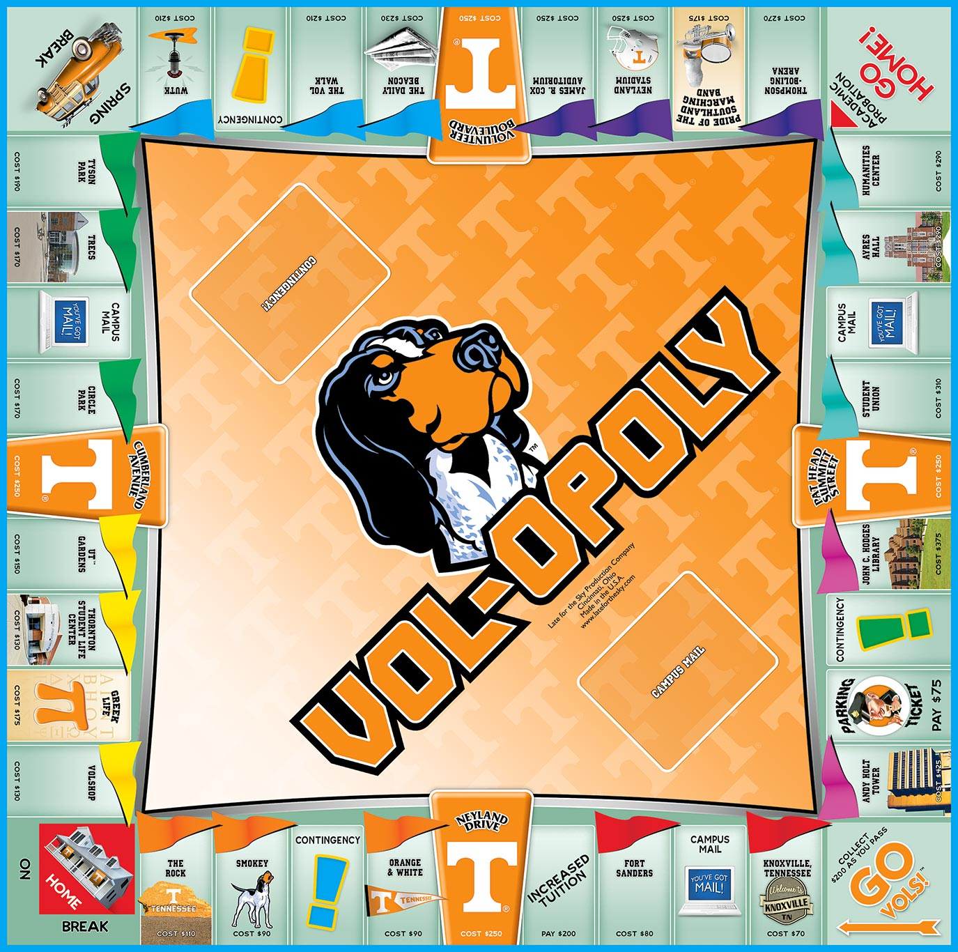 VOL-OPOLY Board Game