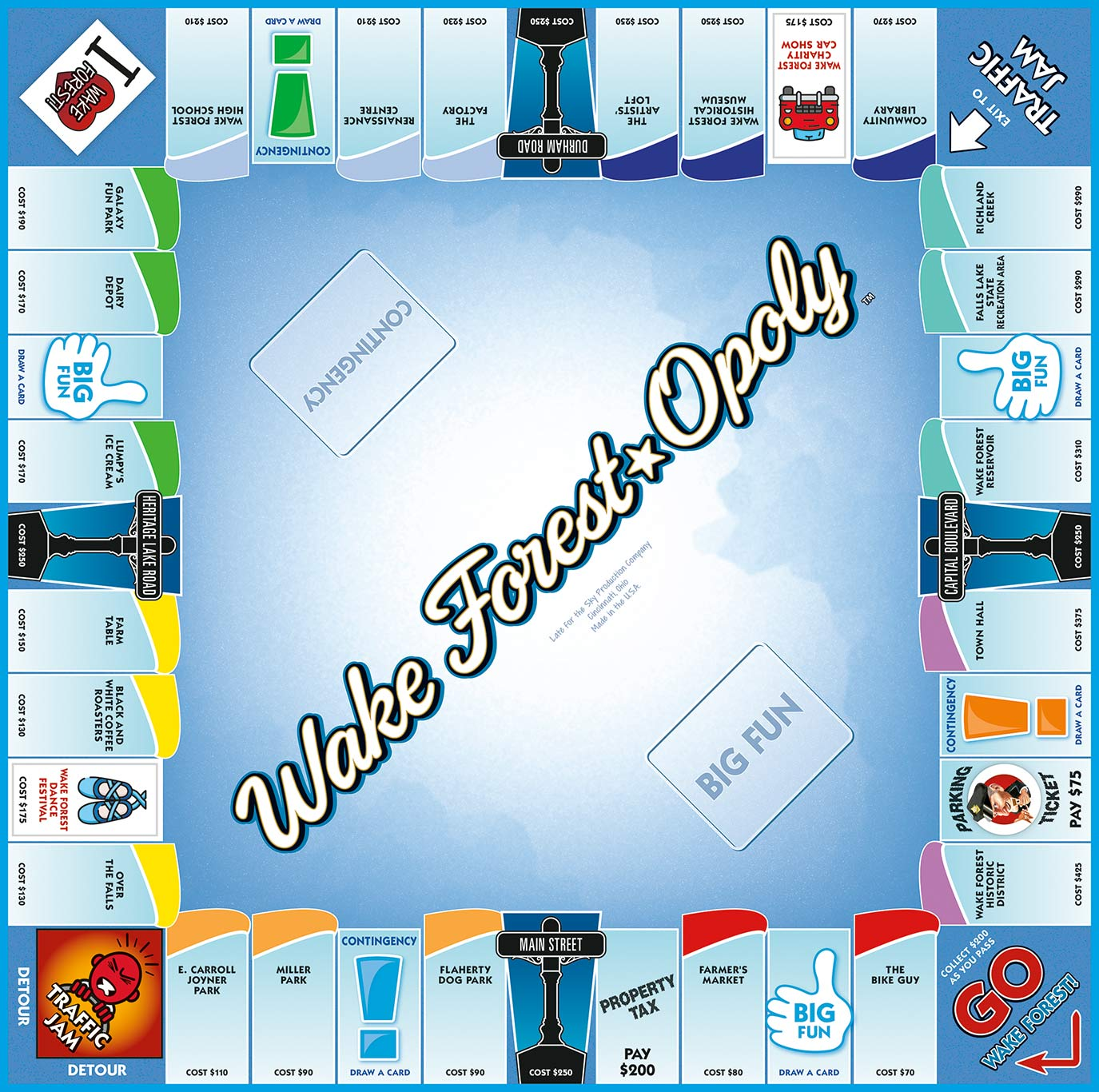 WAKE FOREST-OPOLY Board Game