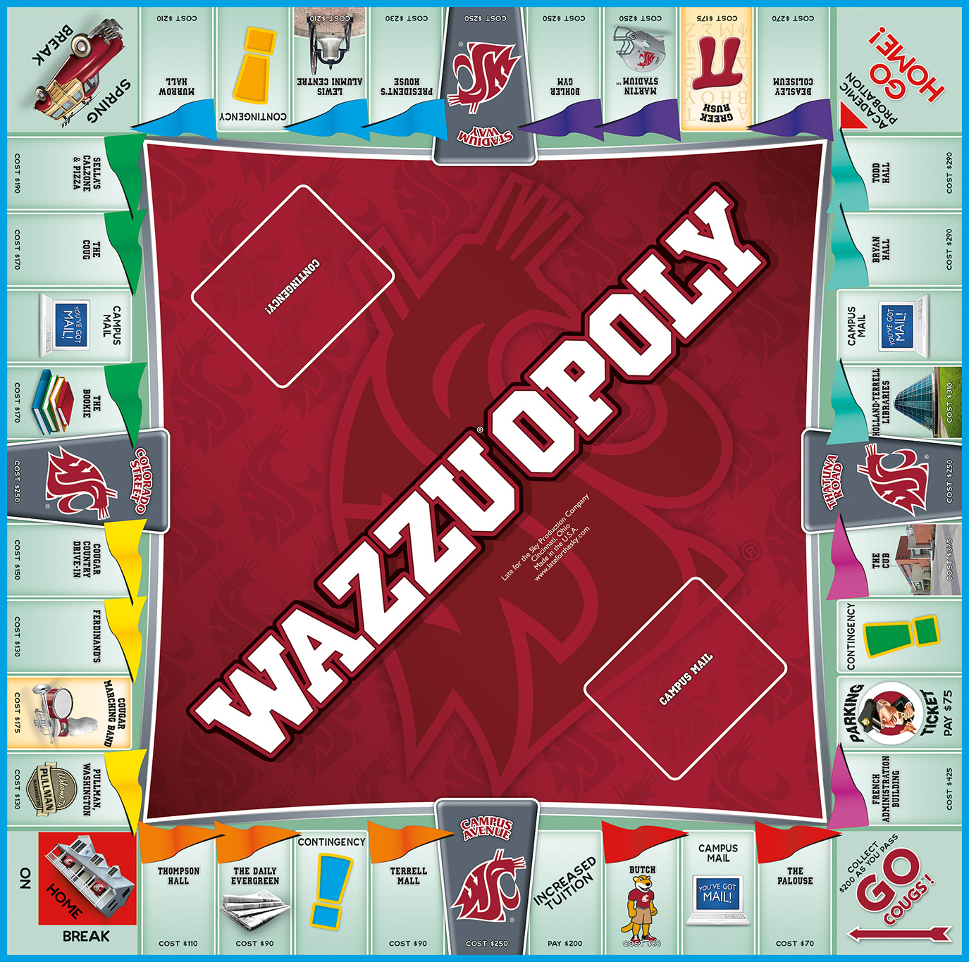 WAZZU-OPOLY Board Game