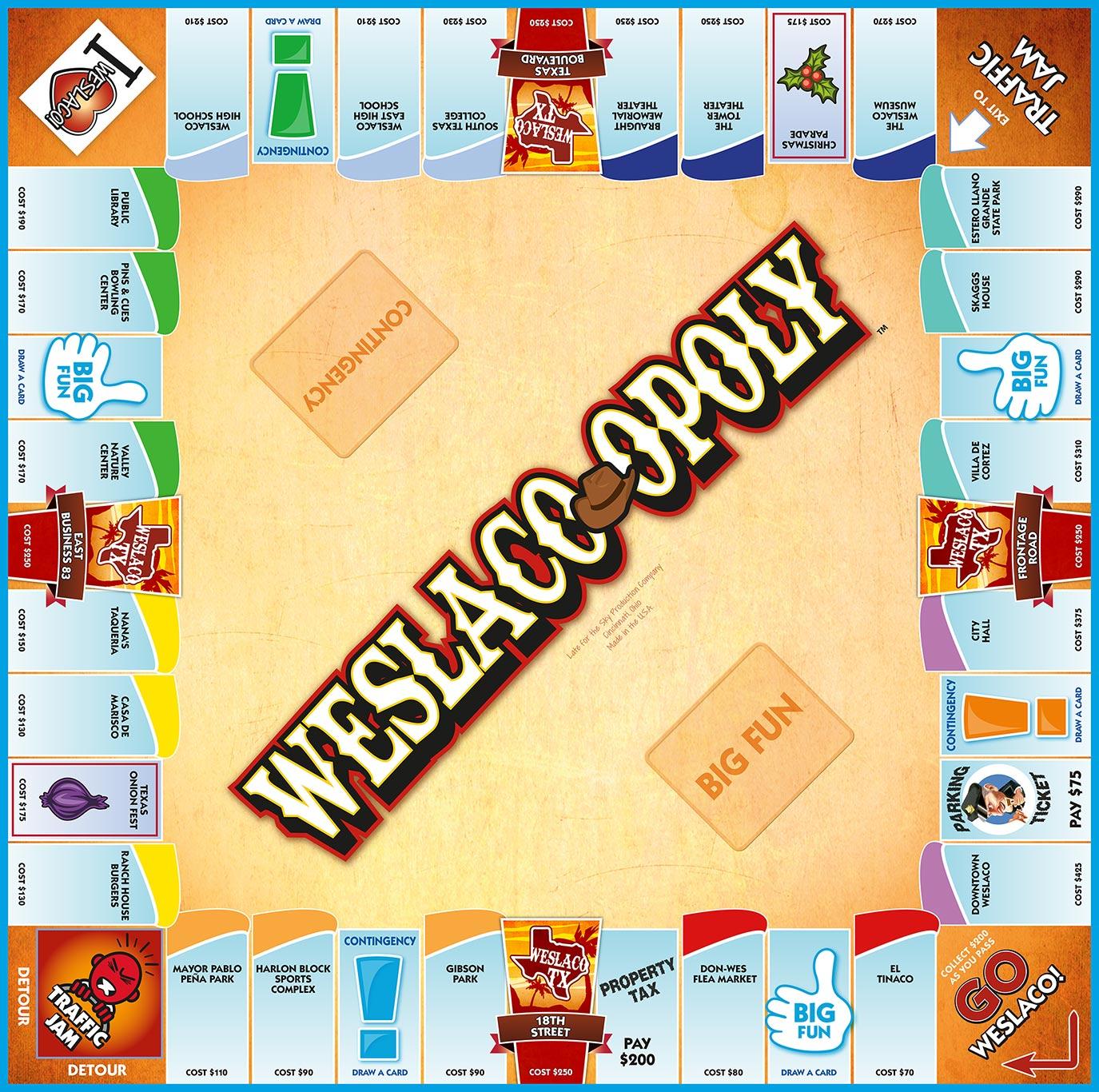 WESLACO-OPOLY Board Game