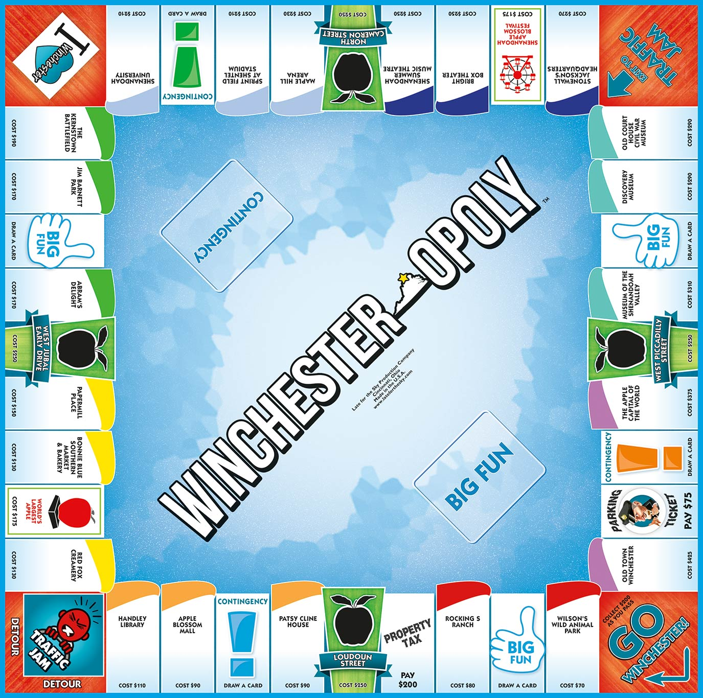 WINCHESTER-OPOLY Board Game